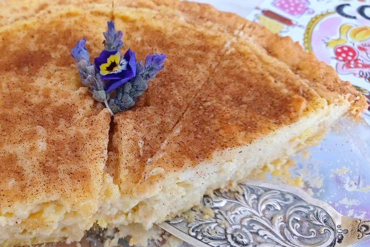The Original Baked Milk Tart with Crust.