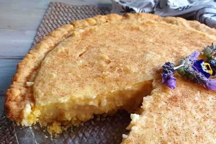 The Original Baked Milk Tart with Crust