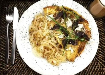 Biltong and Feta Cheese Omelette