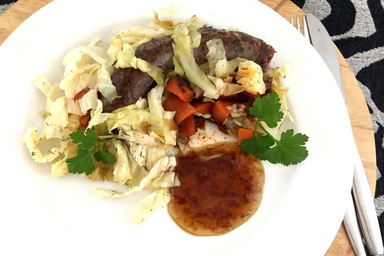 Boerewors with Simple Fried Vegetables