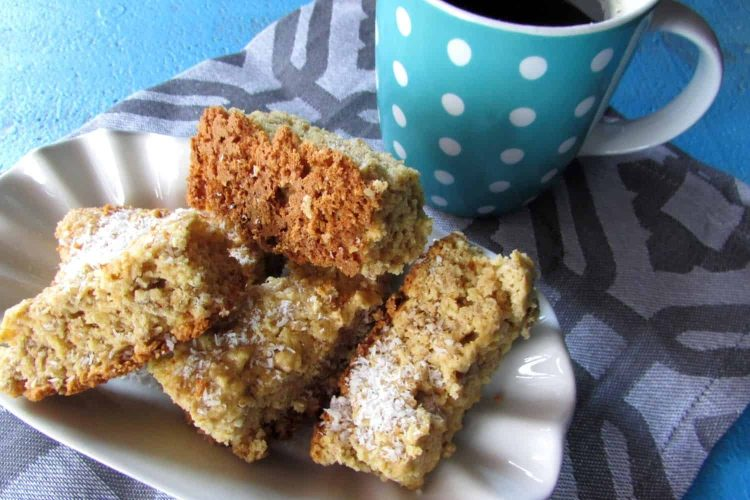 Bran Rusks baked with Coconut
