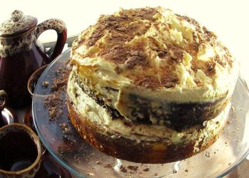 Dark Coffee and Caramel Cake