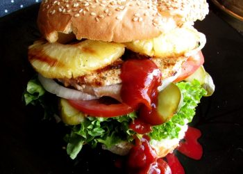 Grilled Chicken Burger with Pineapple