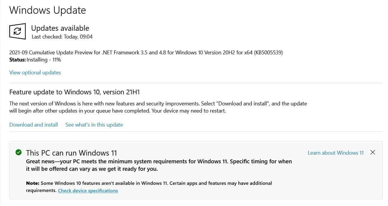 windows 11 regional limitations notification